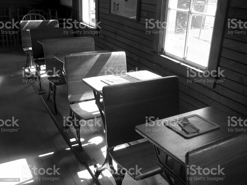 Antique Classroom stock photo