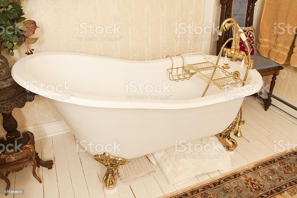 Antique Clawfoot Bathtub stock photo