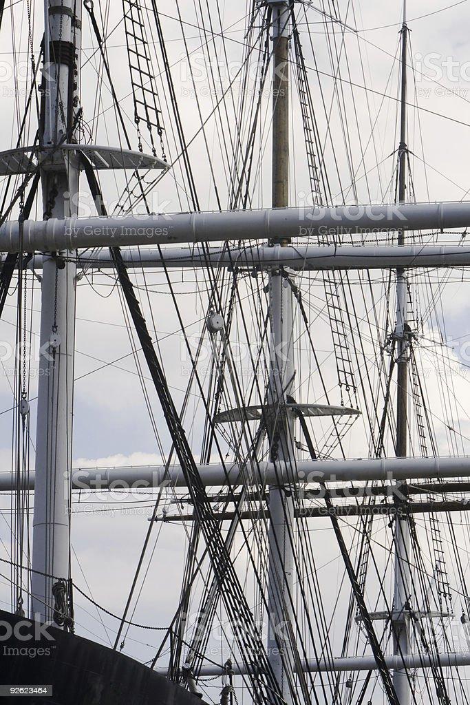 Antique Clipper Ship stock photo