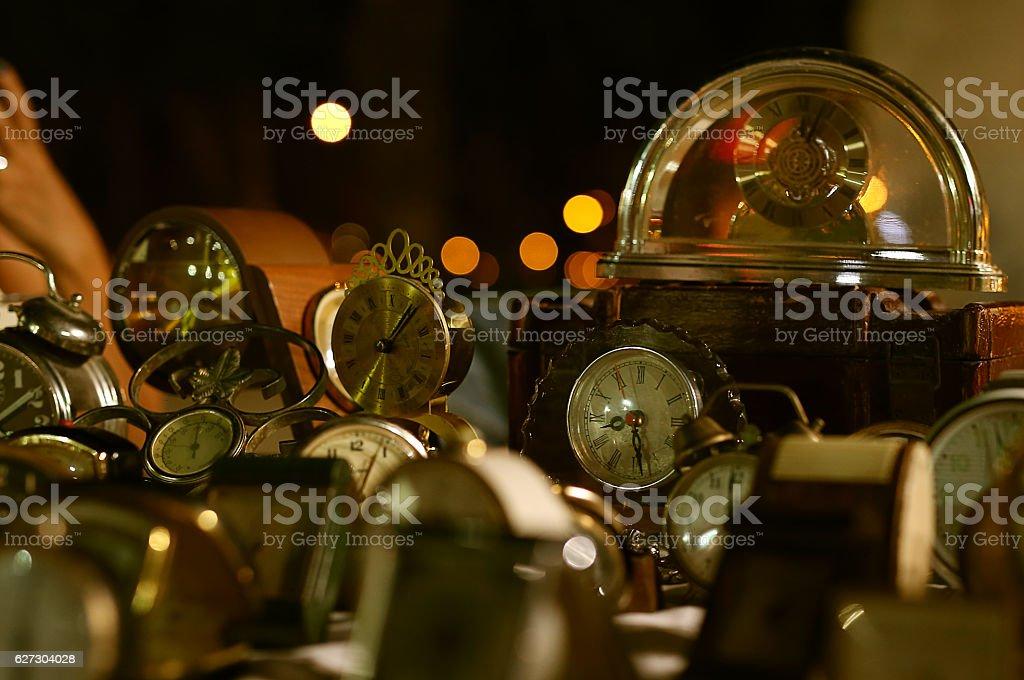 antique clock at a flea market, Antiques