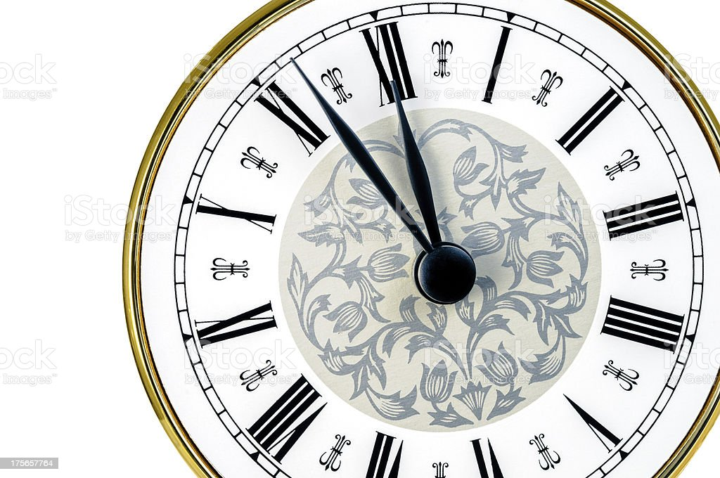 Antique Clock Face royalty-free stock photo