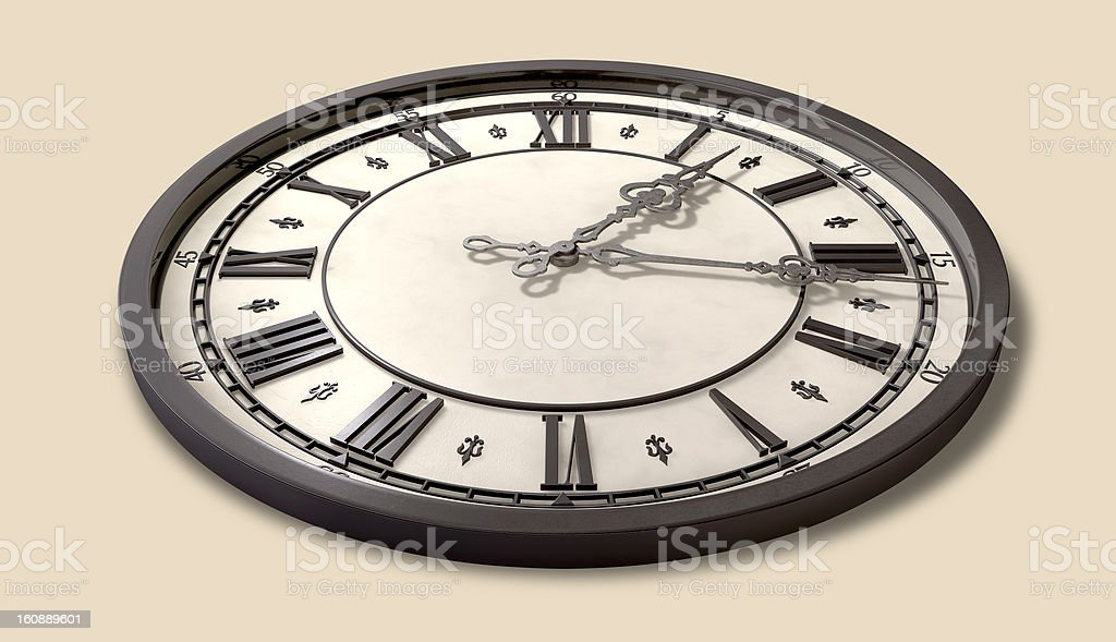 Antique Clock Full royalty-free stock photo