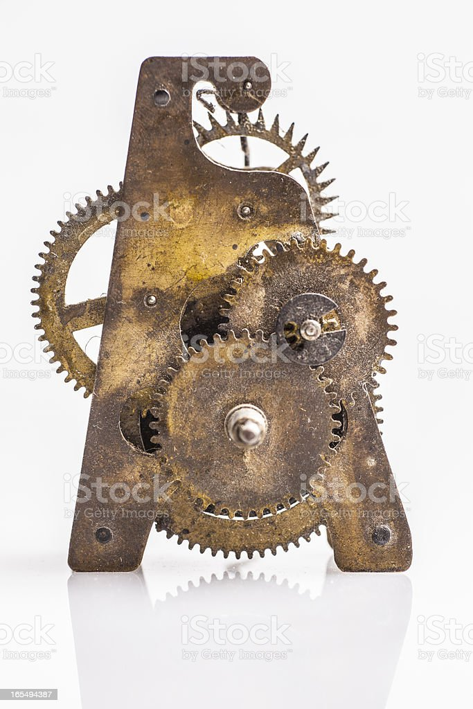 Antique clock gears royalty-free stock photo