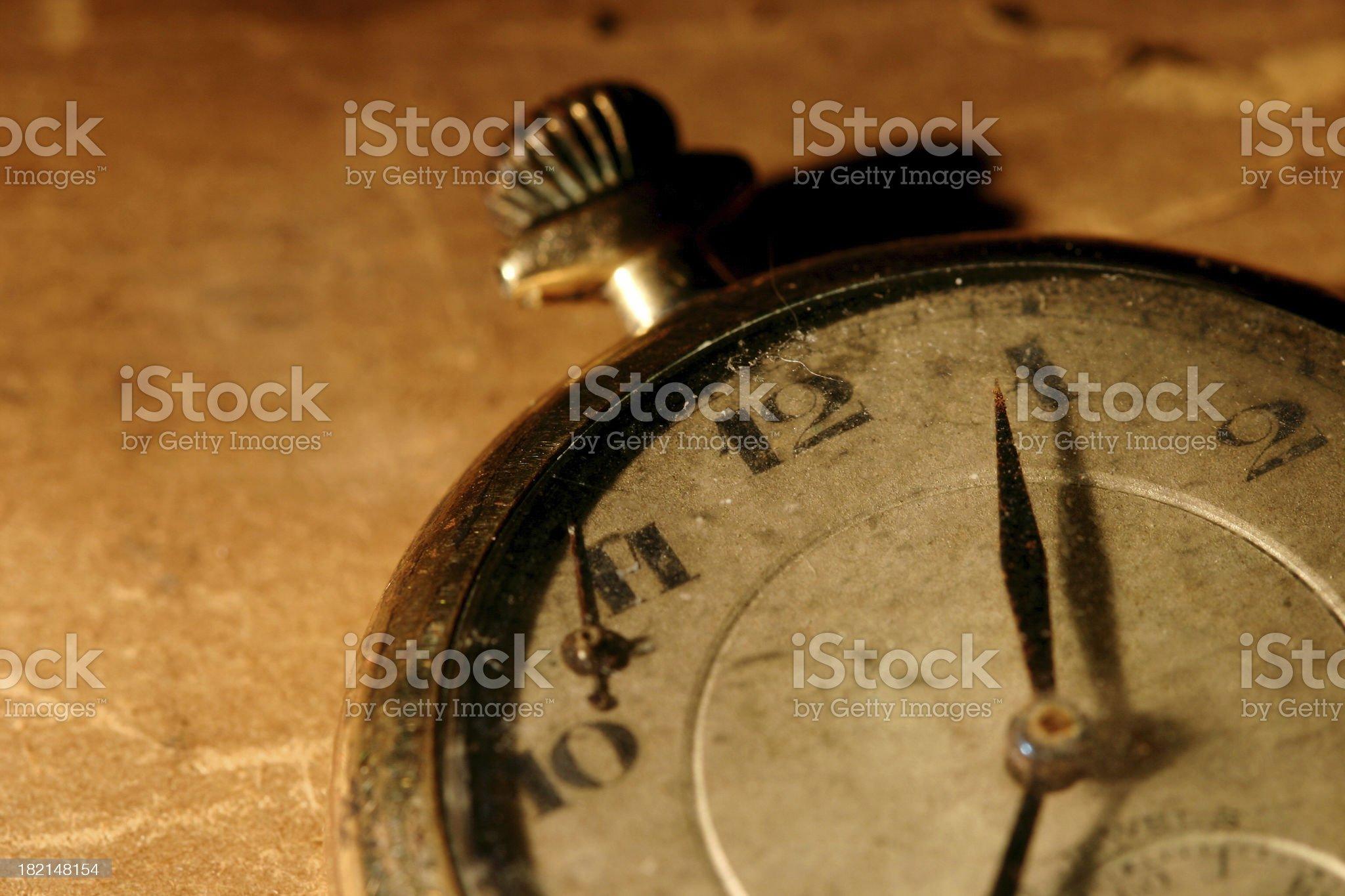 Antique Clock royalty-free stock photo