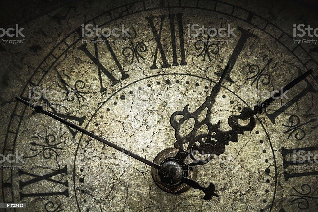 Antique clock stock photo