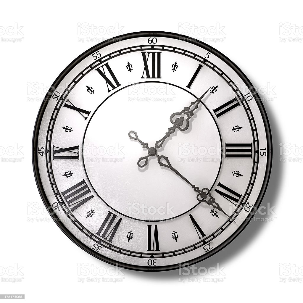 Antique Clock Top royalty-free stock photo