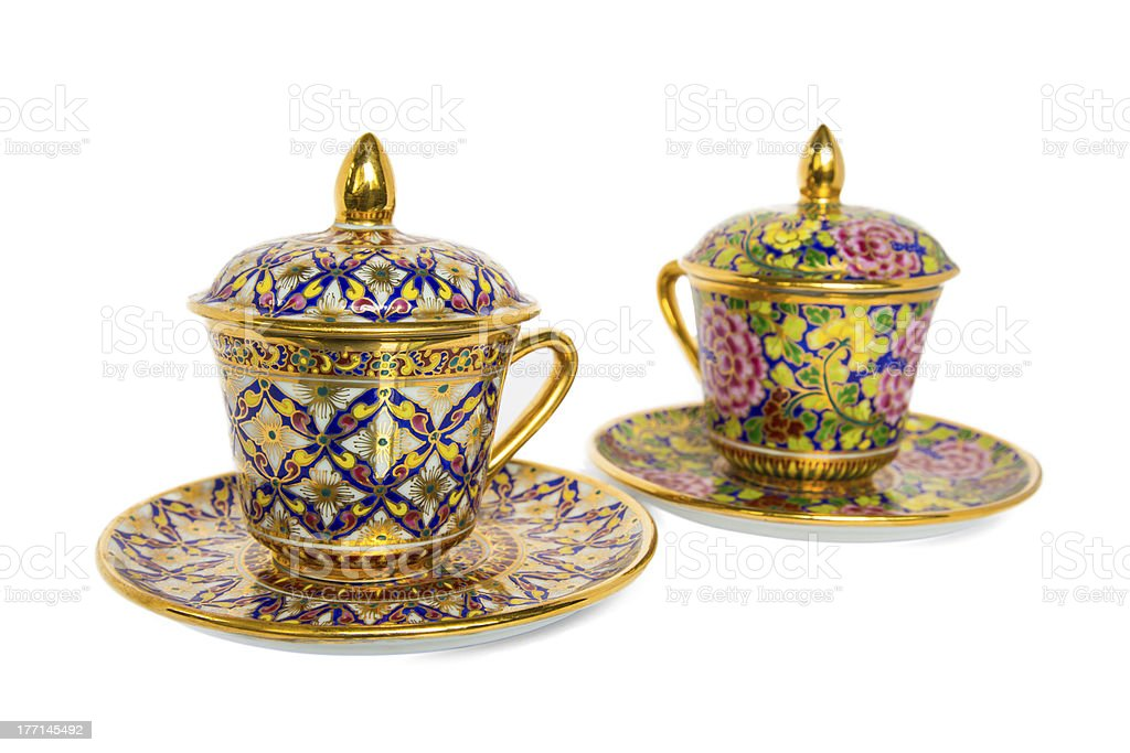 Antique Coffee Cup royalty-free stock photo