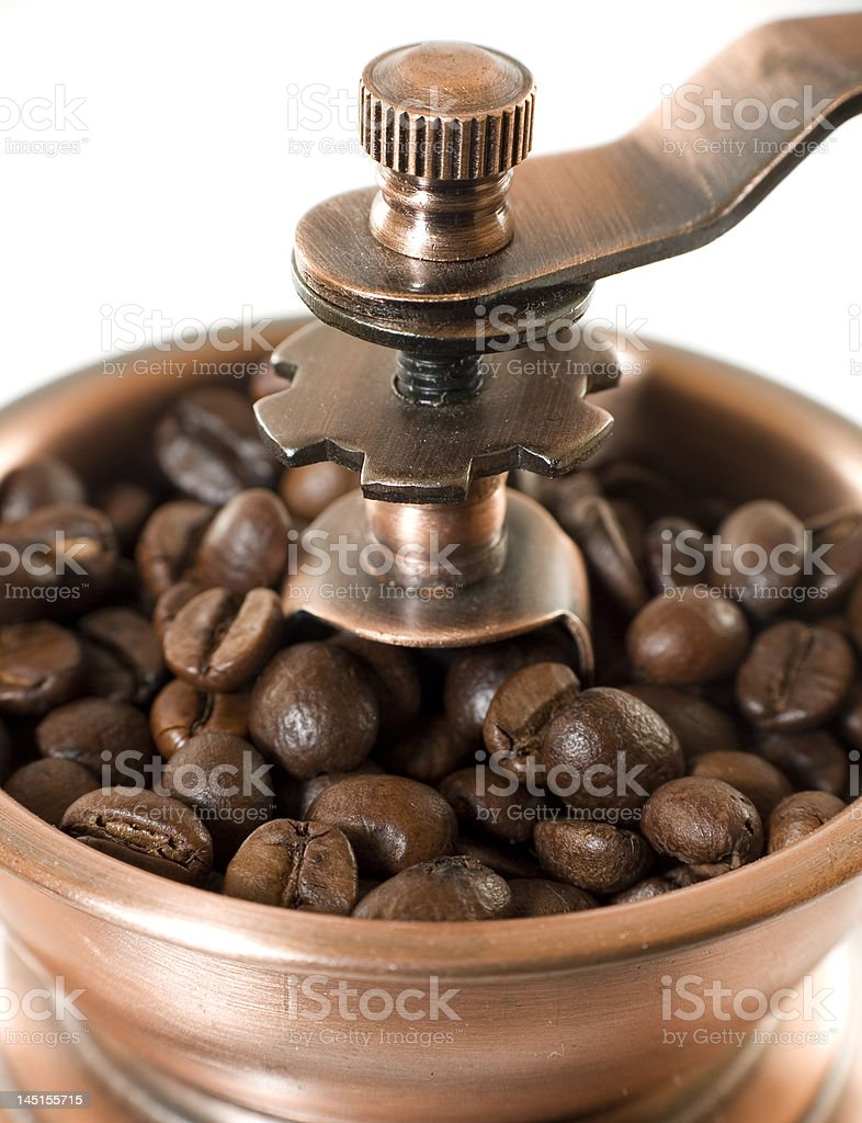 antique coffee mill royalty-free stock photo