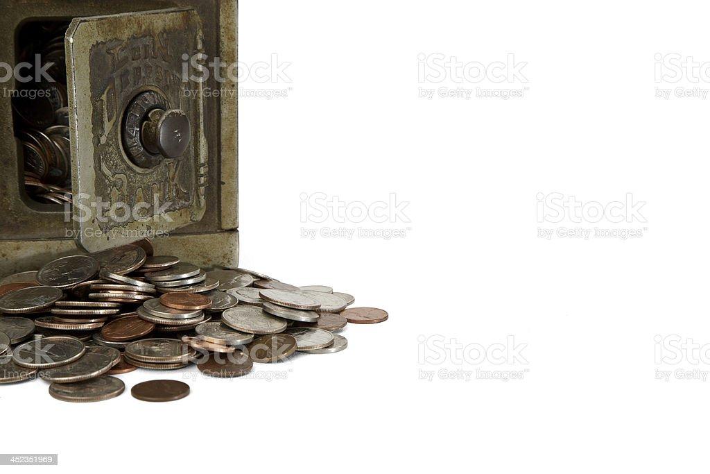 Antique Coin Bank royalty-free stock photo