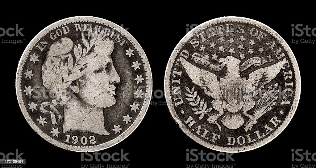 Antique coin royalty-free stock photo