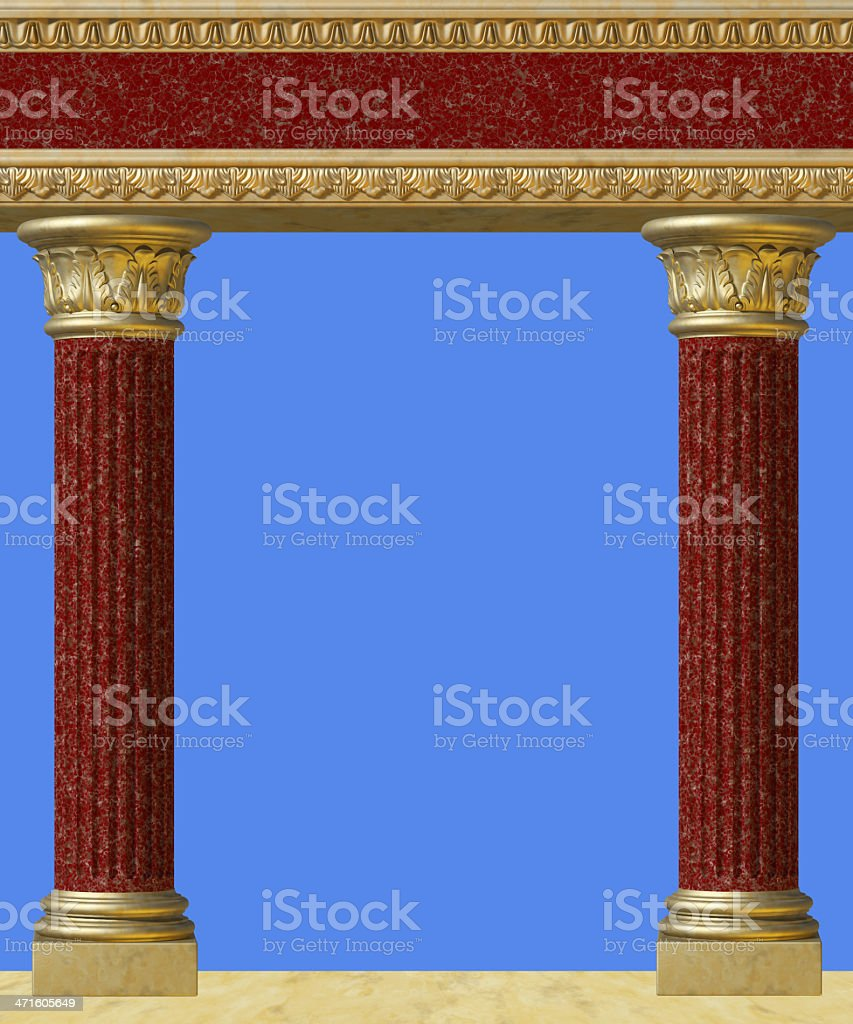 Antique column isolated royalty-free stock photo