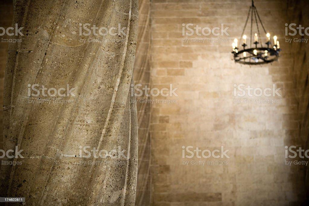 Antique column of la Lonja royalty-free stock photo