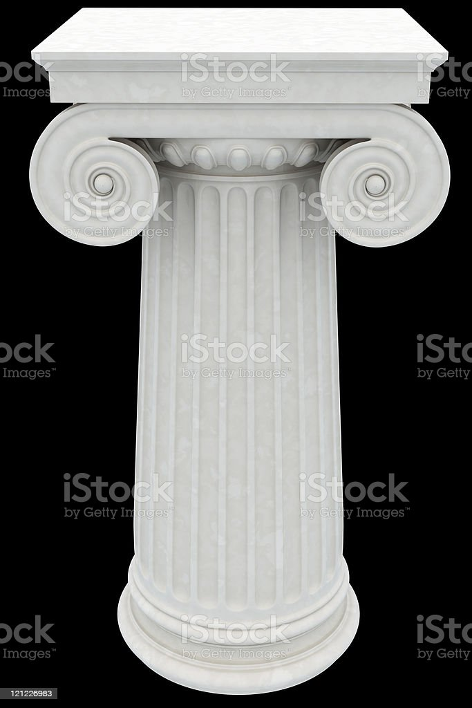 Antique column. XXXL royalty-free stock photo