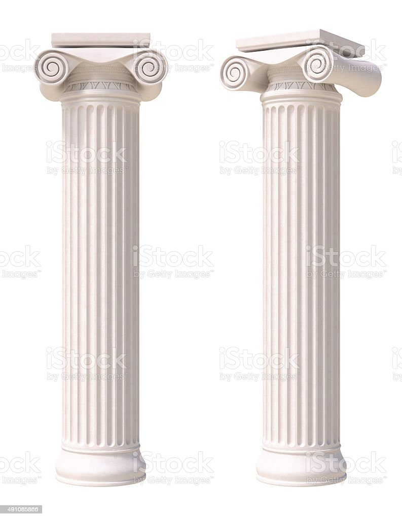 Antique columns stock photo