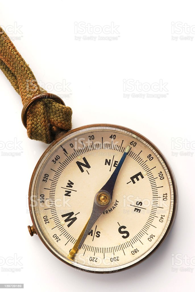 antique compass face royalty-free stock photo