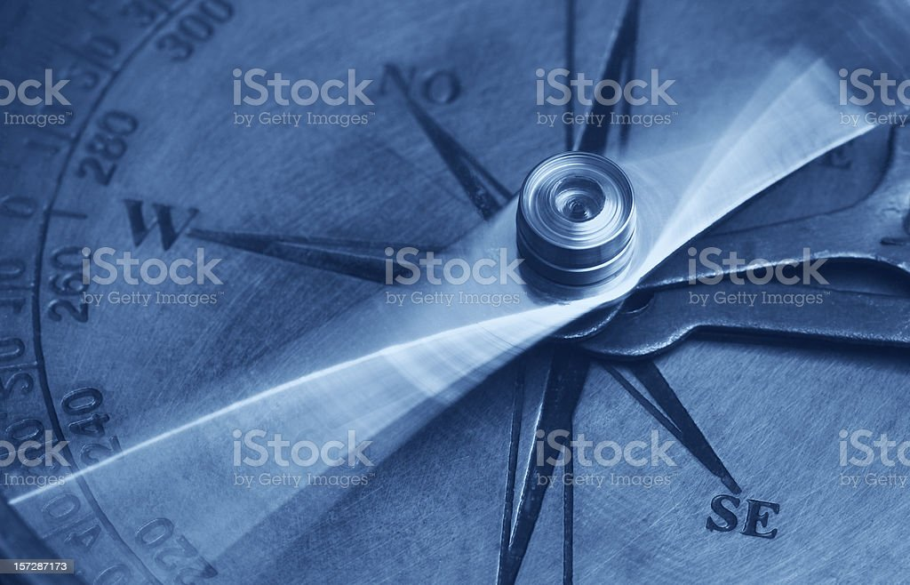 Antique Compass stock photo