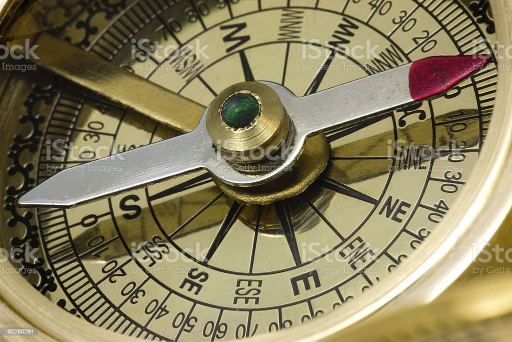 Antique compass. royalty-free stock photo
