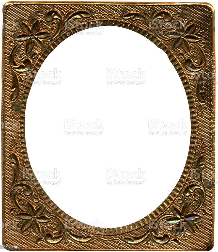 Antique copper frame from tintype royalty-free stock photo