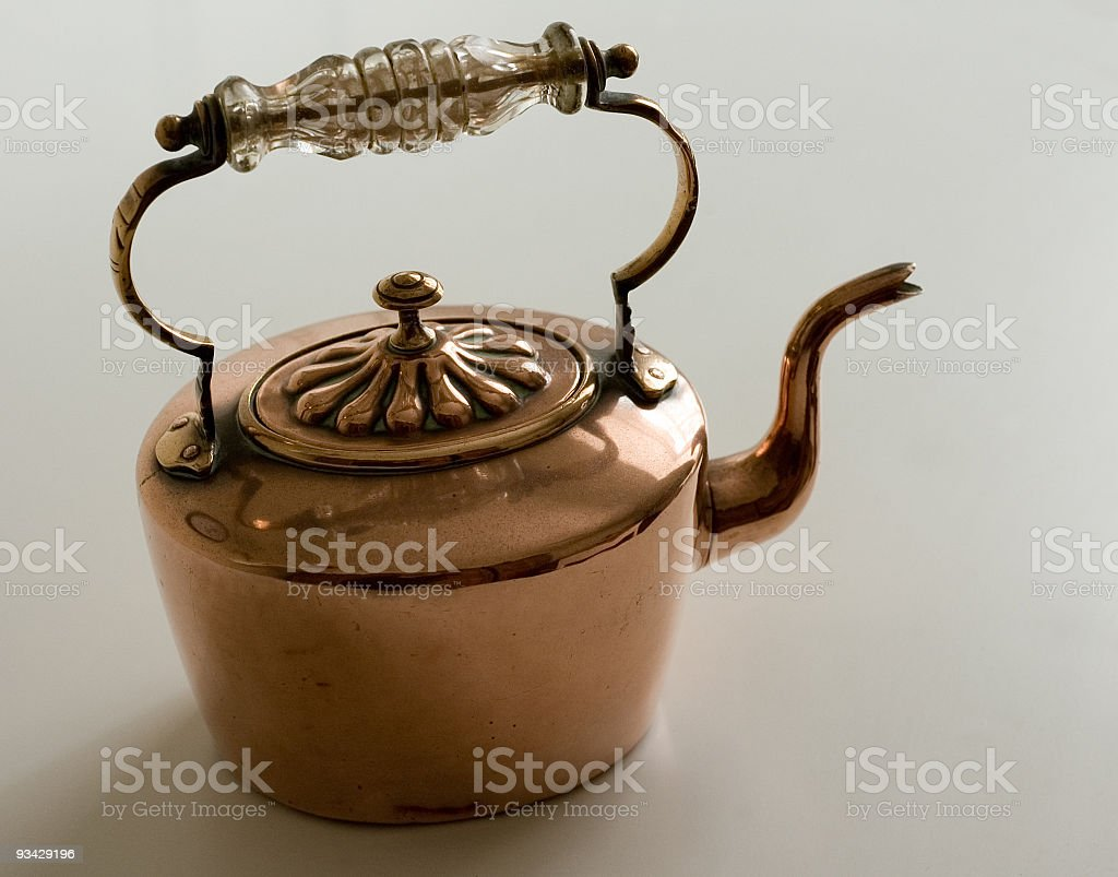 Antique Copper Kettle royalty-free stock photo