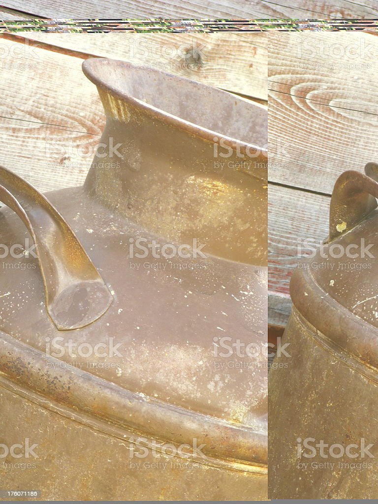 Antique Copper Milk Canister royalty-free stock photo