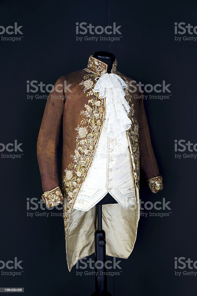 Antique costume for aristocratic men royalty-free stock photo