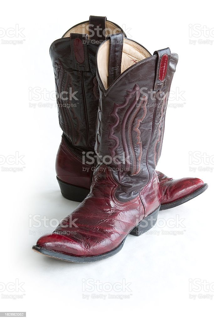Antique Cowboy Boots Object royalty-free stock photo