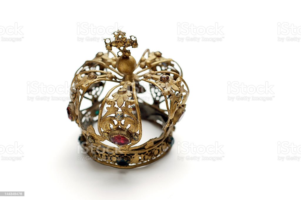 Antique Crown royalty-free stock photo