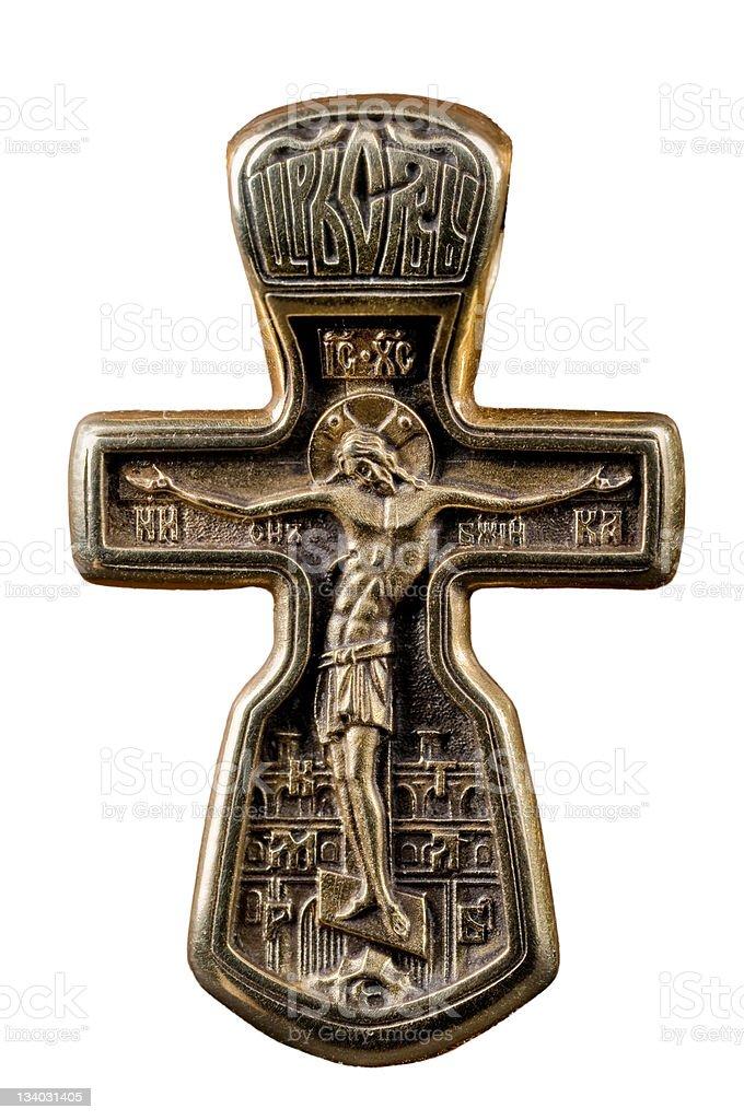 antique crucifix stock photo