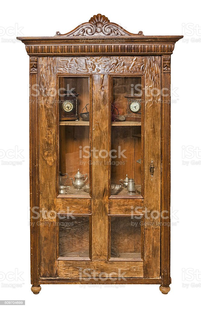 Antique cupboard stock photo