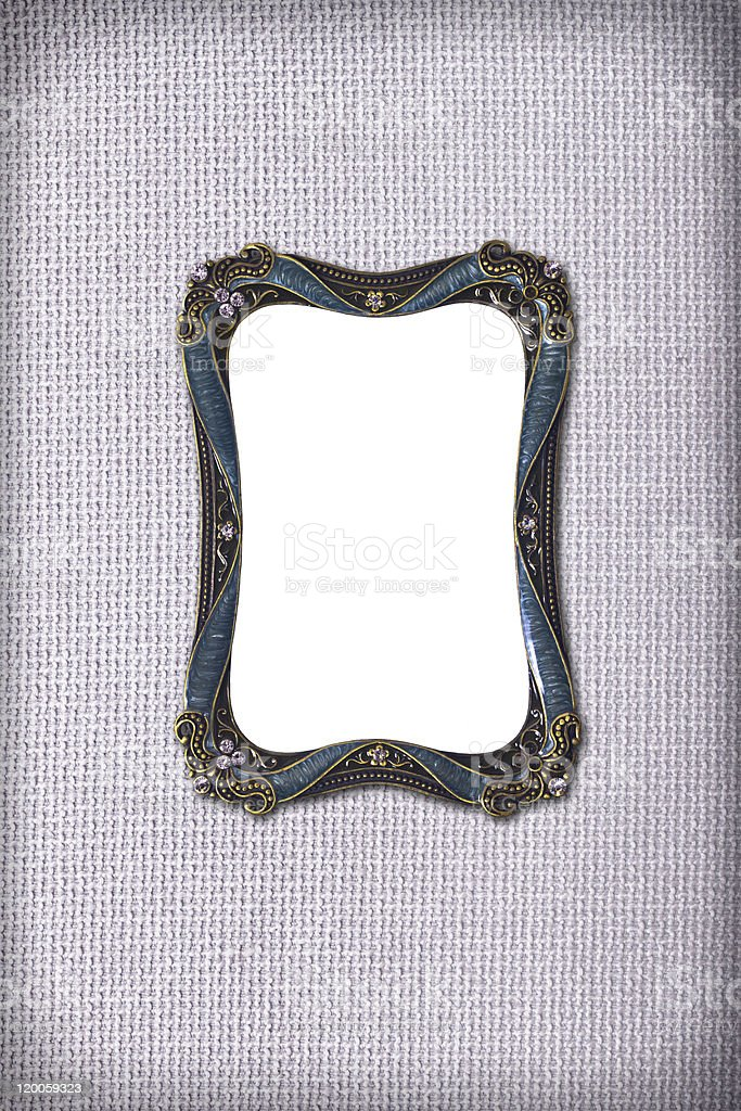 antique Curve frame on fabric royalty-free stock photo
