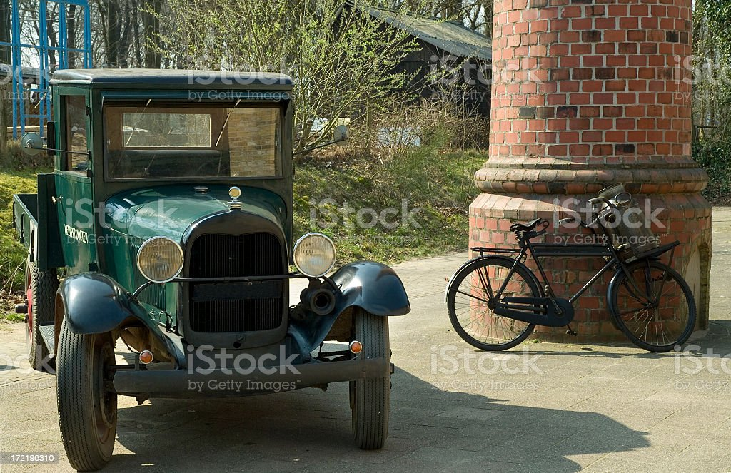 Antique Dairy Vehicle royalty-free stock photo