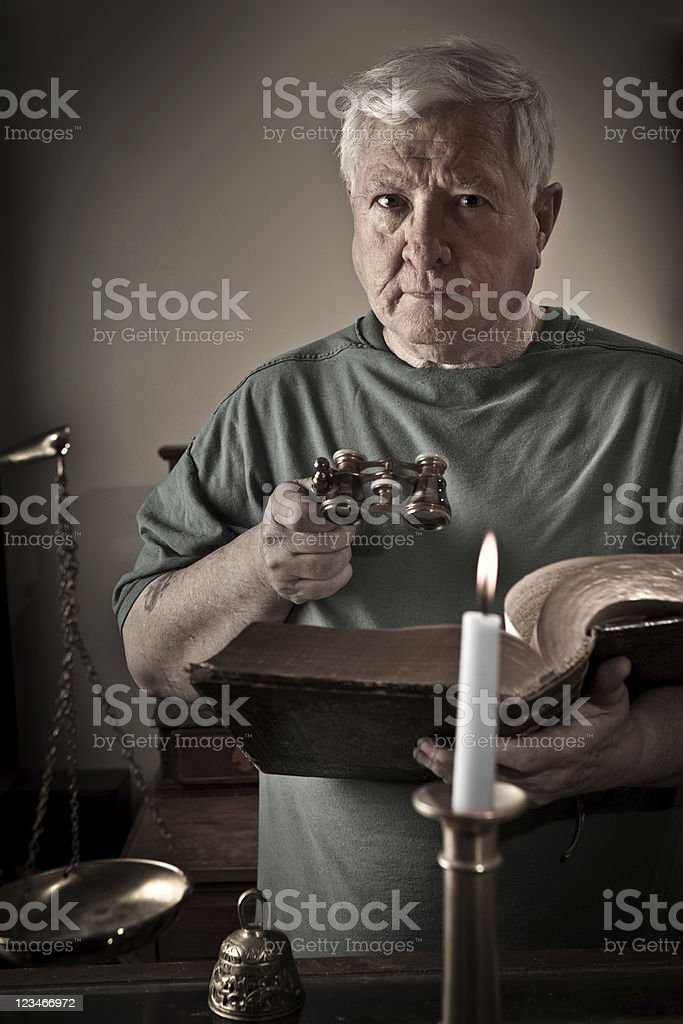 Antique dealer stock photo
