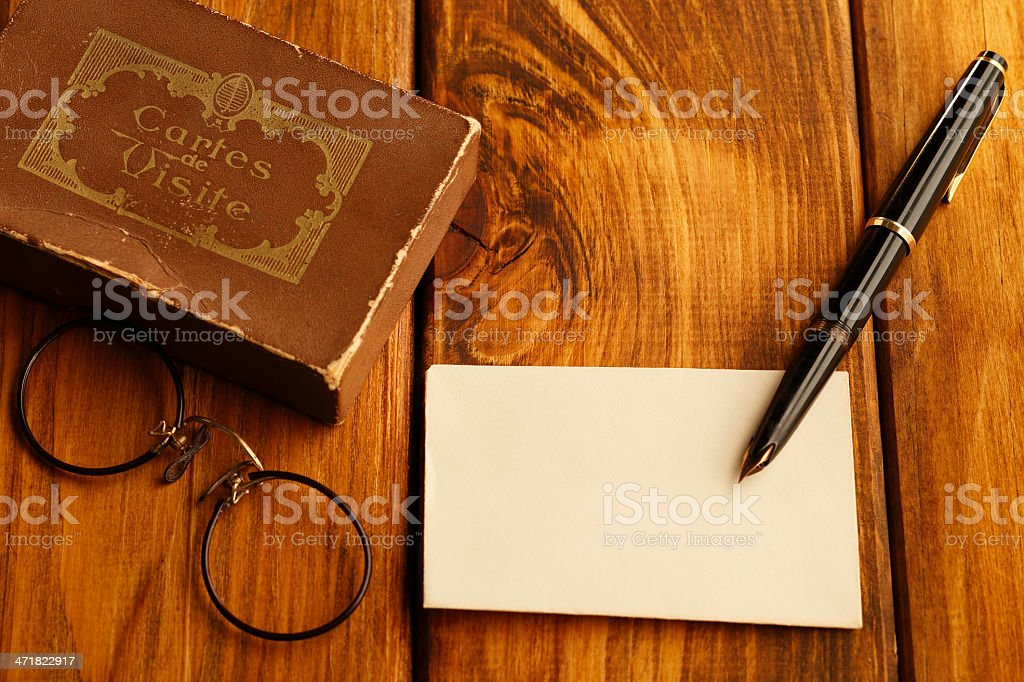 Antique desk set up royalty-free stock photo