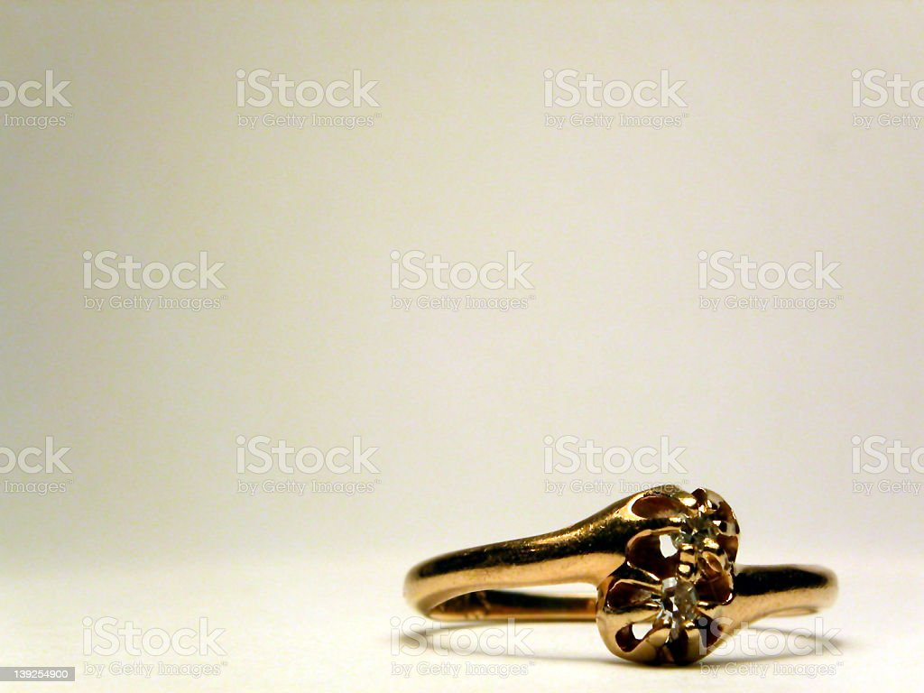 Antique Diamond Engagement Ring royalty-free stock photo
