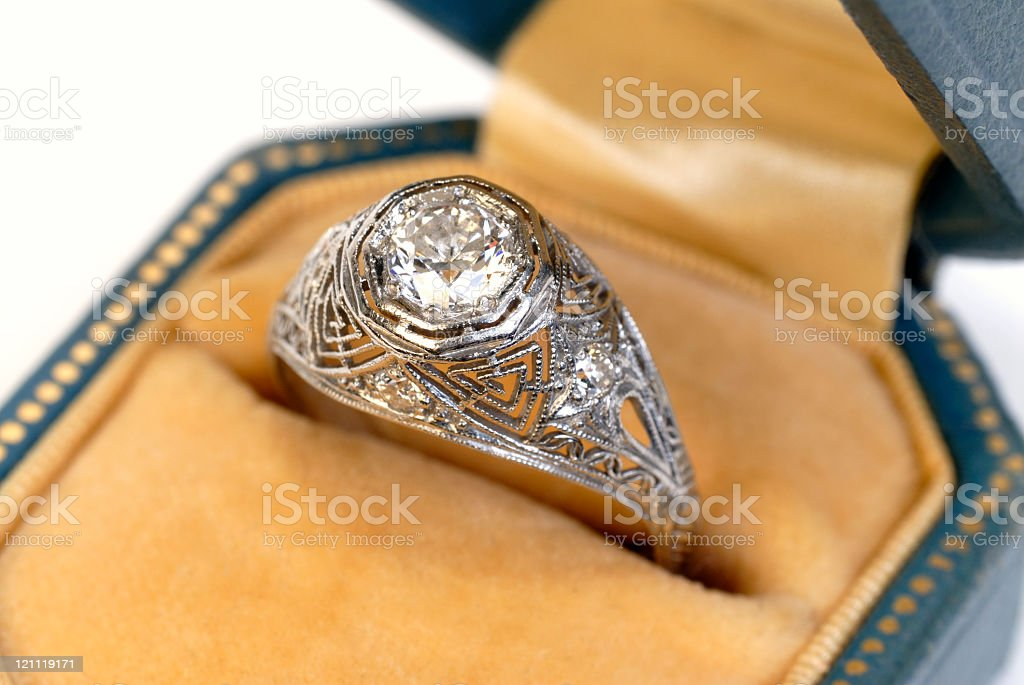 Antique Diamond Ring stock photo