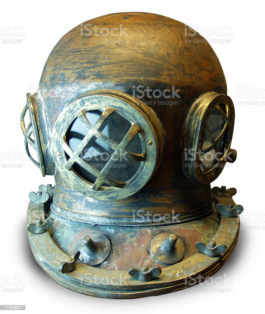 Antique Diver's Helmet royalty-free stock photo