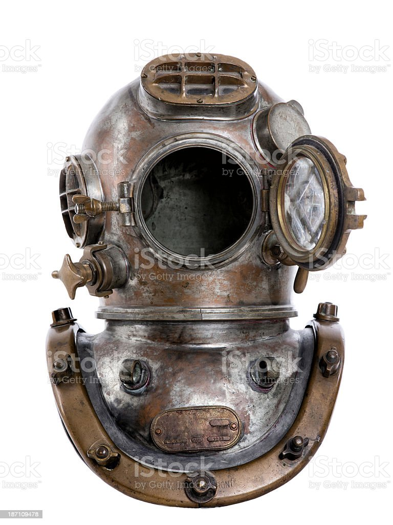 Antique Diving Helmet royalty-free stock photo
