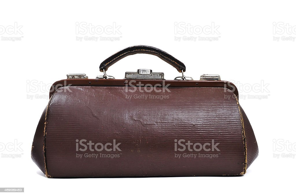 antique doctors bag stock photo