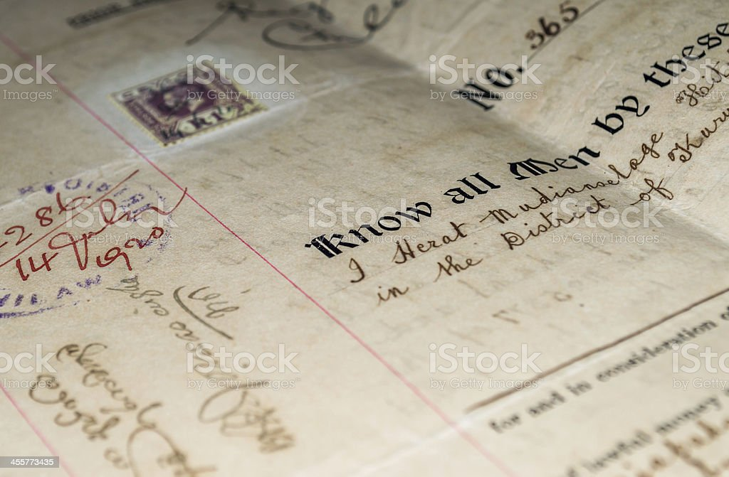 antique document 4 stock photo