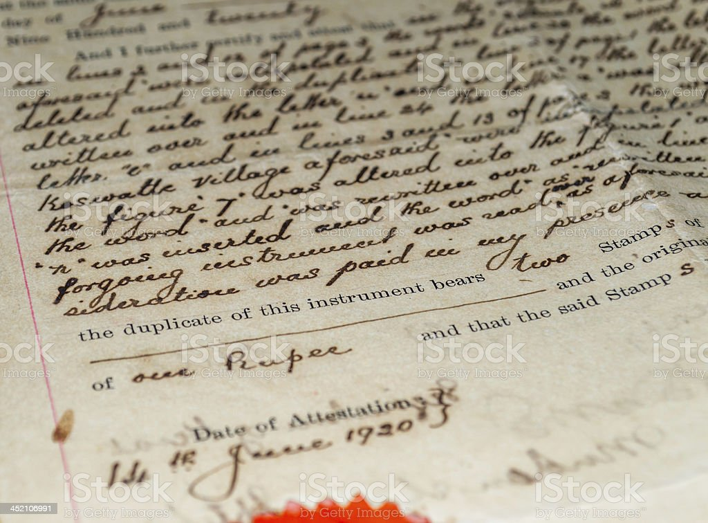 antique document royalty-free stock photo