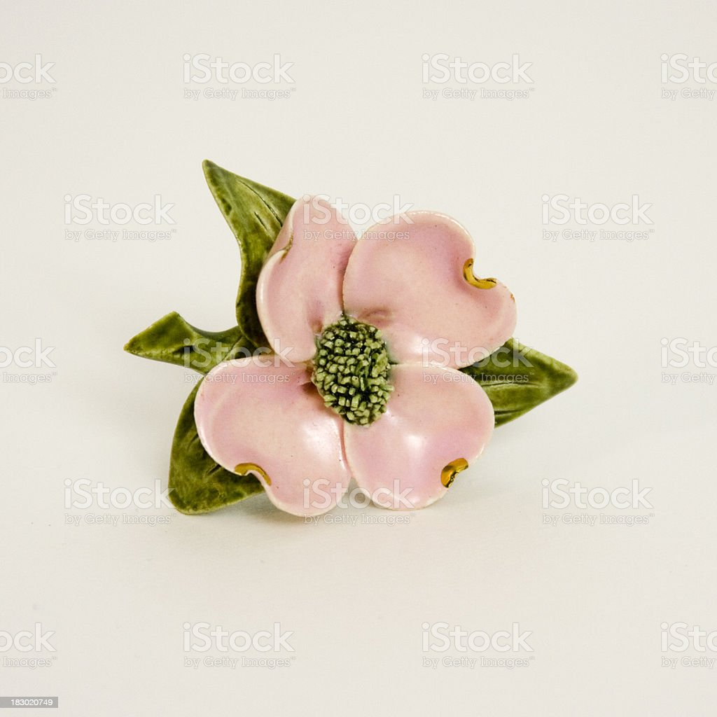 Antique Dogwood Brooch royalty-free stock photo