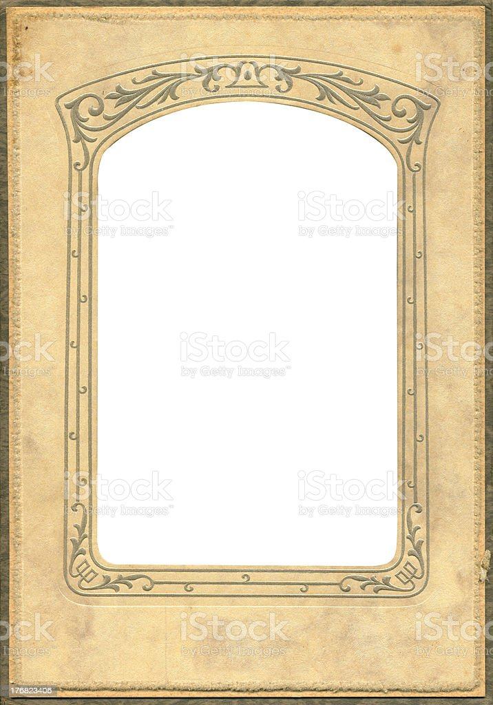 Antique dome top frame royalty-free stock photo