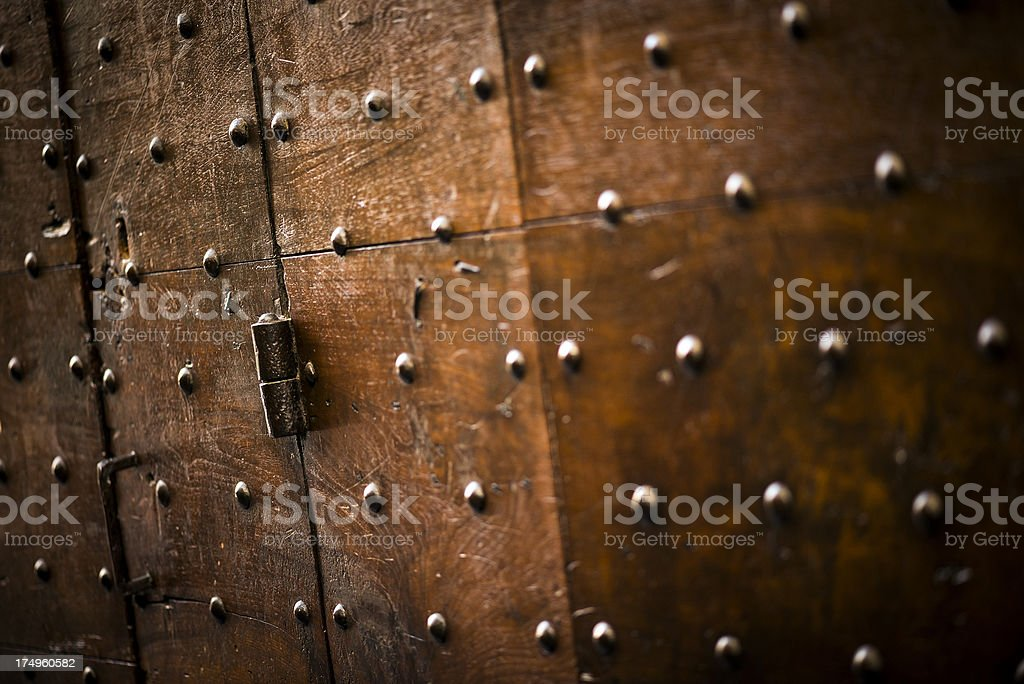 Antique door detail close up royalty-free stock photo