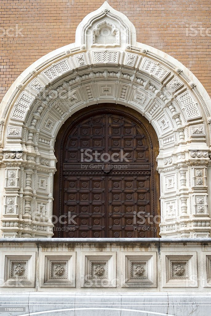 Antique door entrance royalty-free stock photo
