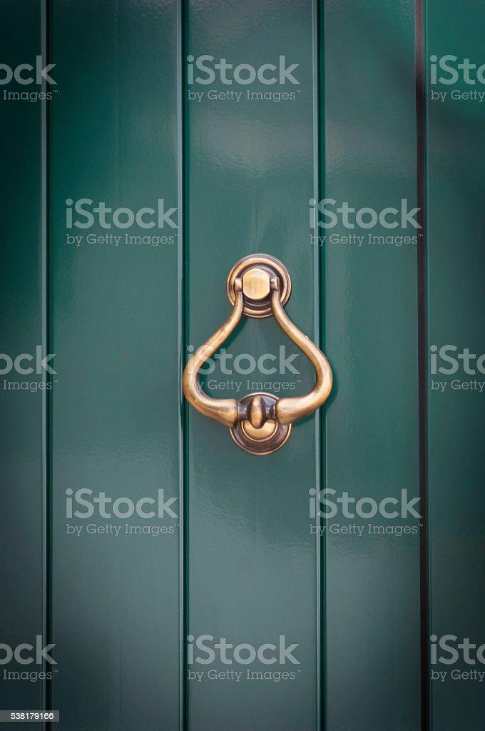 Antique door handle stock photo