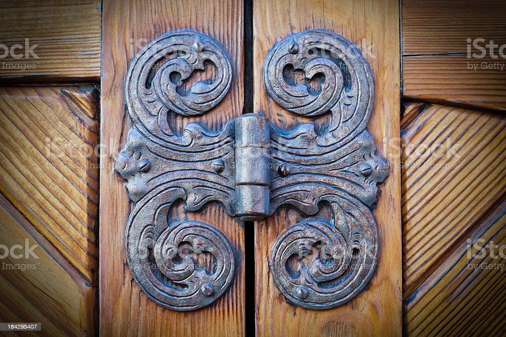 Antique Door Hinge stock photo