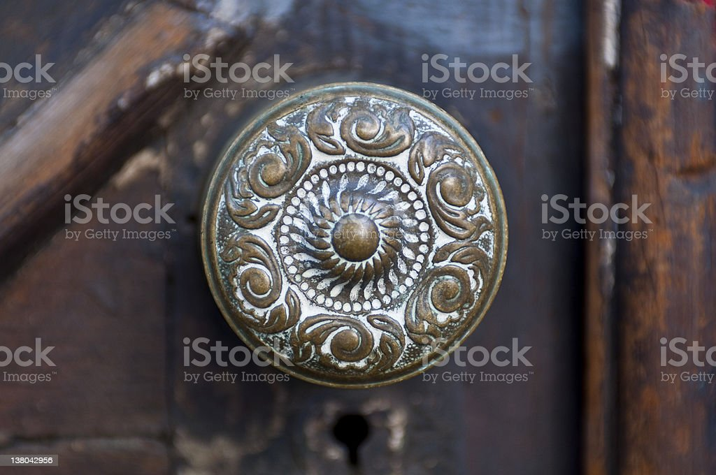 Antique Door Knob stock photo