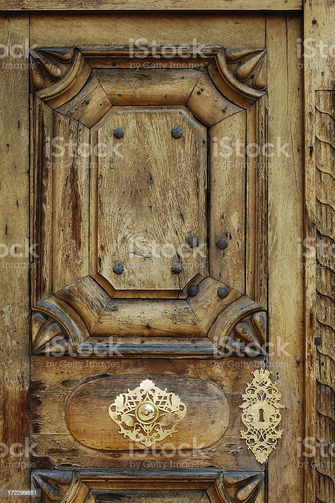 Antique Door Panel royalty-free stock photo