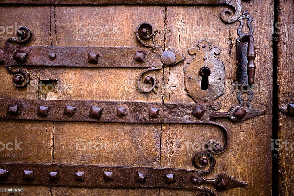 Antique door. royalty-free stock photo