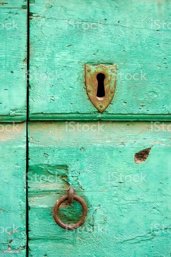 Antique door royalty-free stock photo